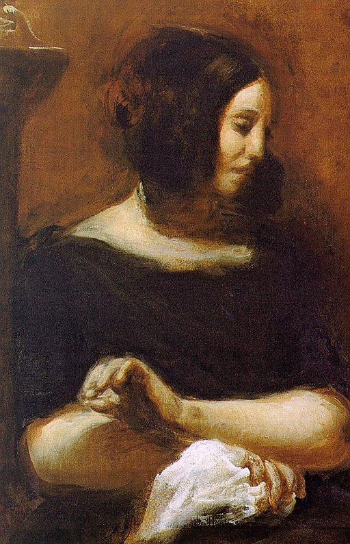 George Sand par Delacroix