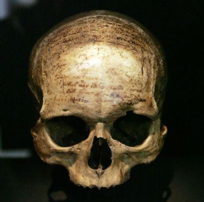 le crâne de descartes du Musée de l'Homme