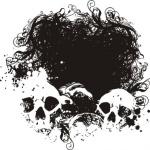 FearGrungeVectorIllustration